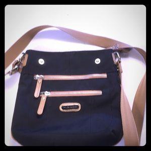 Tyler Rodan purse blue with gray trim